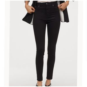 "H&M Black Skinny Stretch Jeans SZ 30 x 28"" inseam"